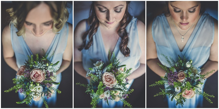 Chloe and Paul's Outdoor Autumn Wedding bridesmaids in North Wales By Lottie Elizabeth Photography
