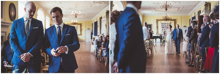 Bride walking the aisle at Doddington Hall Lincolnshire Wedding By Phillipa James Photography