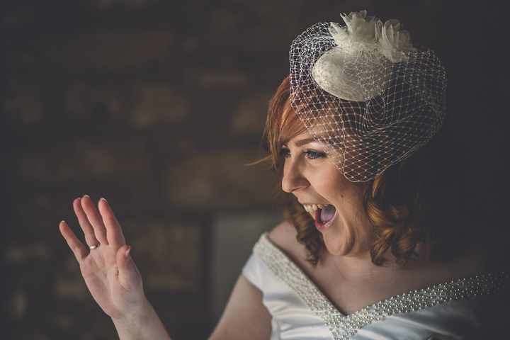 Chloe and Paul's Outdoor Autumn Wedding bride in North Wales By Lottie Elizabeth Photography