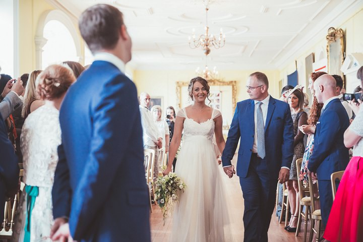 Bride sees groom at Doddington Hall Lincolnshire Wedding By Phillipa James Photography