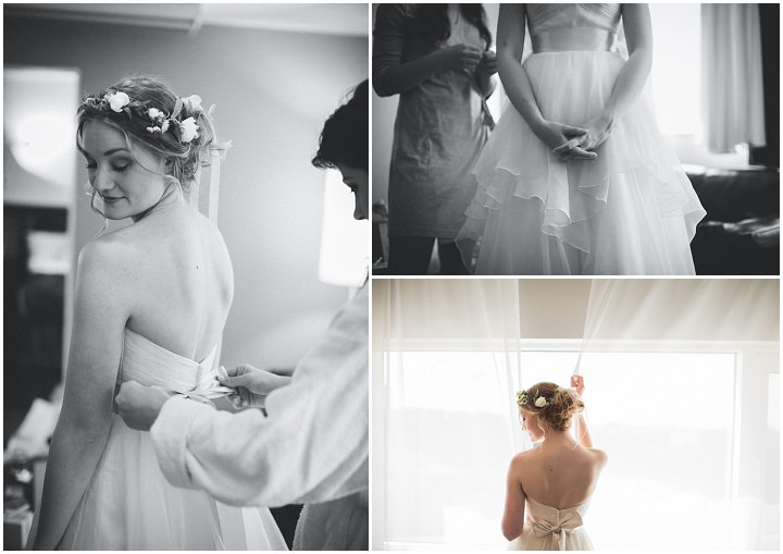 Outdoor Swedish Wedding bride getting ready in Göteborg By Loke Roos Photography