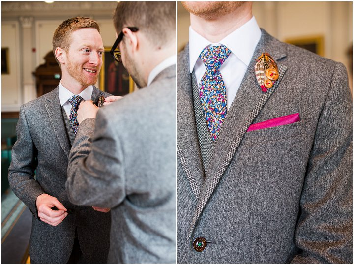 Groom getting ready Vintage Inspired Great Yarmouth Town Hall Wedding By Tatum Reid Photography