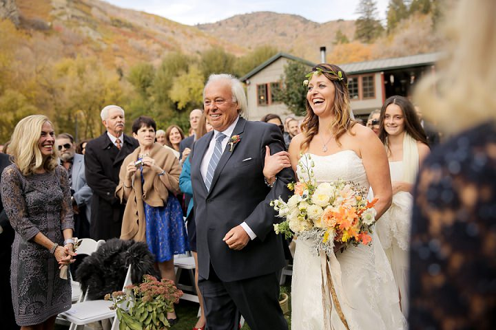 Wedding at Log Haven Restaurant boho chic bride in Utah Wedding By Pepper Nix Photography