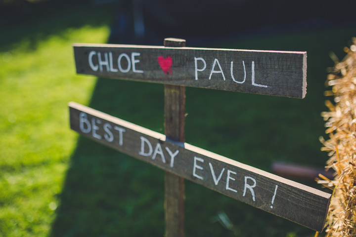 Chloe and Paul's Outdoor Autumn Wedding signs in North Wales By Lottie Elizabeth Photography