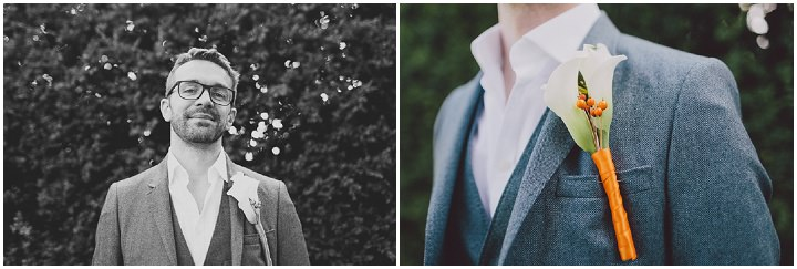 Autumnal Elmore Court groom Gloucestershire Wedding By Scuffins Photography