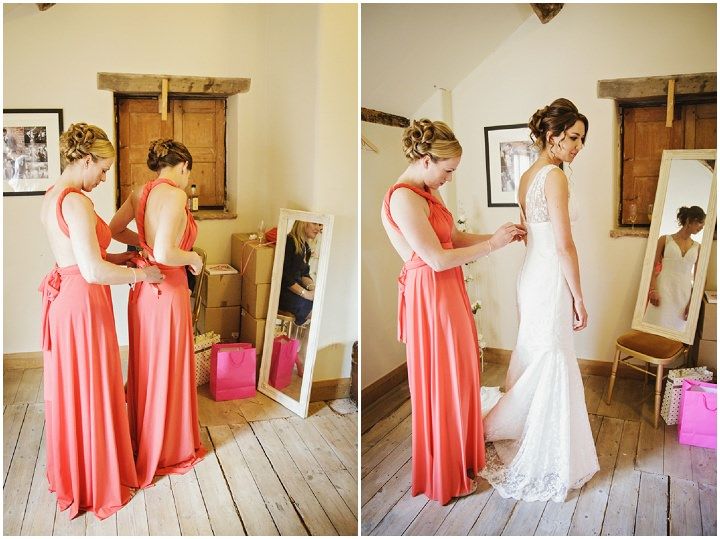 Barn Wedding bridesmaids in Hereford By Gemma William's Photography