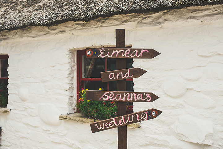 Handmade Wedding signsat The Thatched Cottage in Derry by Paula Gillespie