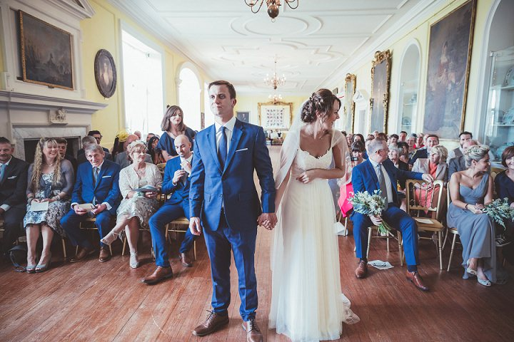 Saying your wedding vows at Doddington Hall Lincolnshire Wedding By Phillipa James Photography