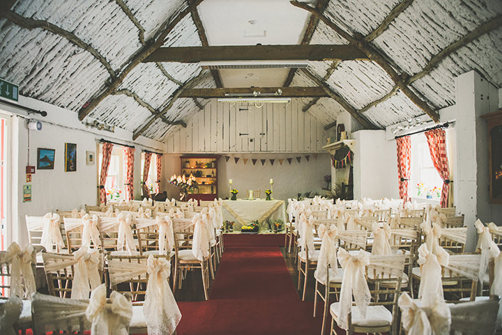 Handmade Wedding reception at The Thatched Cottage in Derry by Paula Gillespie