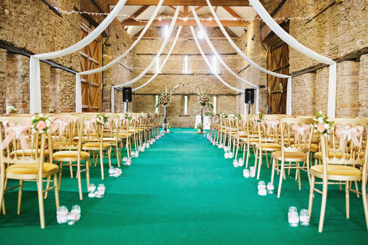 Barn Wedding ceremony in Hereford By Gemma William's Photography