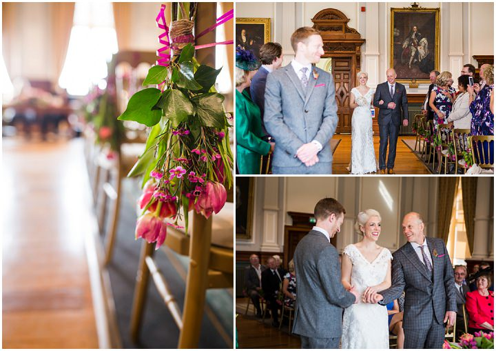 Church wedding at a Vintage Inspired Great Yarmouth Town Hall Wedding By Tatum Reid Photography