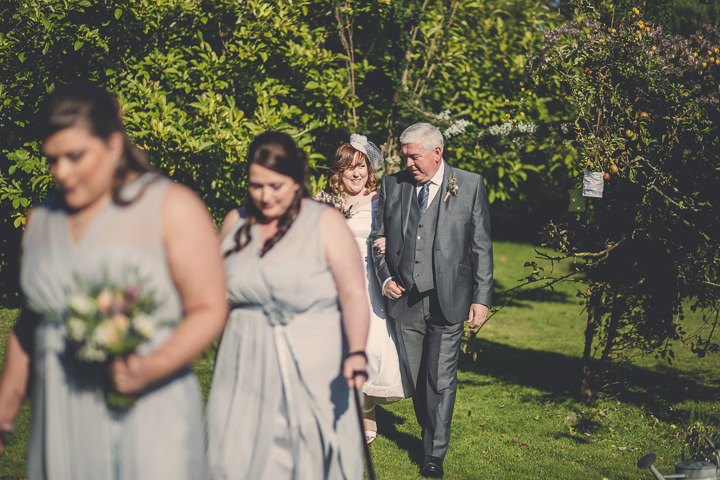 Chloe and Paul's Outdoor Autumn Wedding ceremony in North Wales By Lottie Elizabeth Photography
