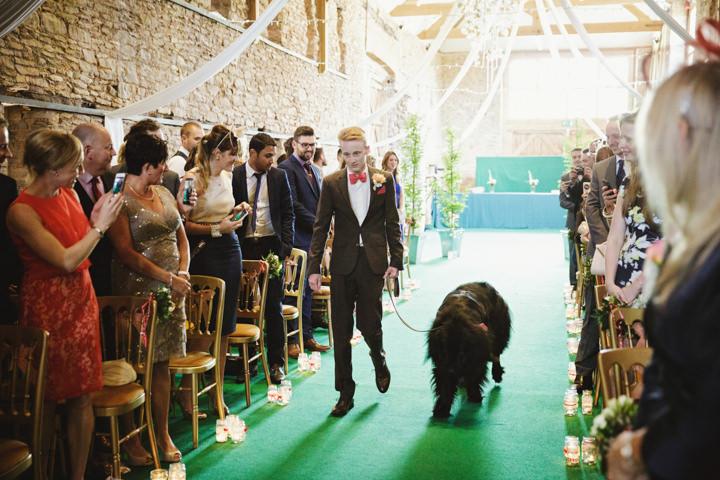 Barn Wedding animal in Hereford By Gemma William's Photography