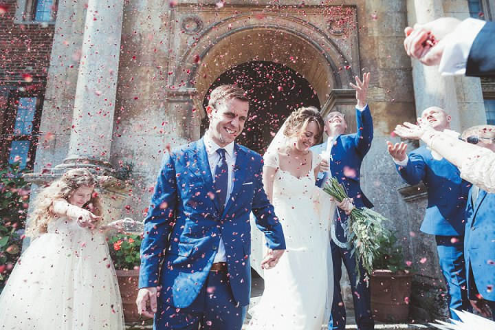 Confetti at Doddington Hall Lincolnshire Wedding By Phillipa James Photography