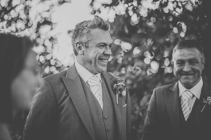 Chloe and Paul's Outdoor Autumn Wedding groom in North Wales By Lottie Elizabeth Photography