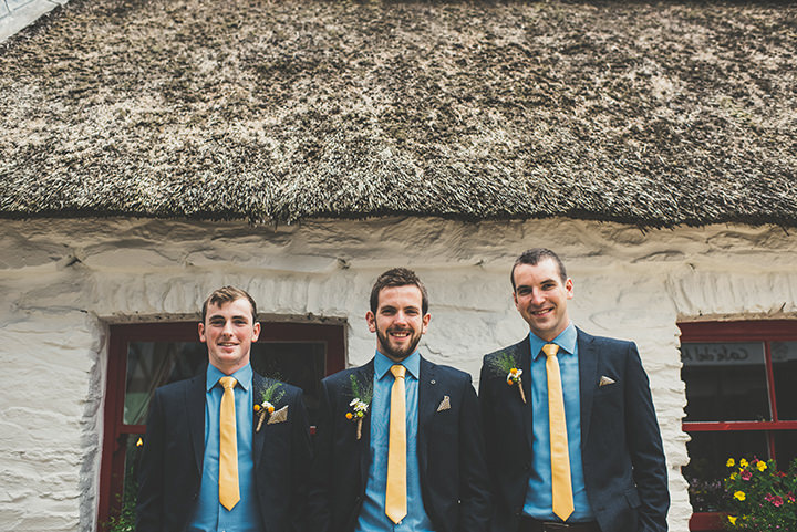 Handmade Wedding groomsmen at The Thatched Cottage in Derry by Paula Gillespie