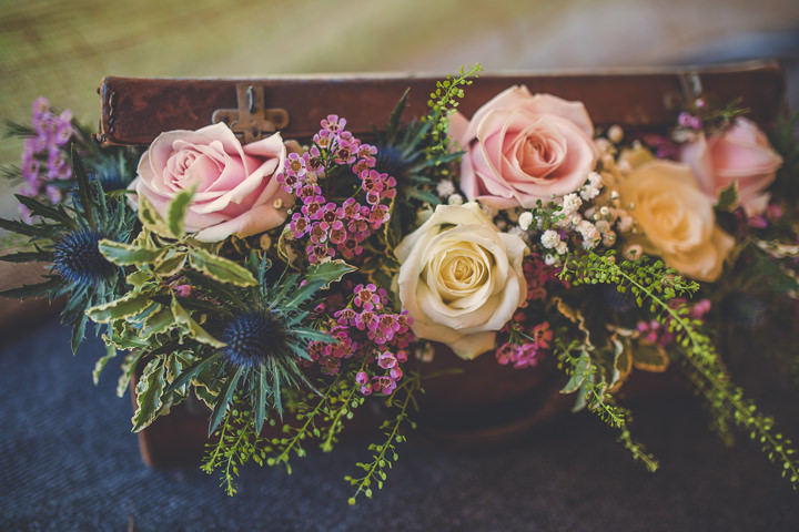 Chloe and Paul's Outdoor Autumn Wedding with flowers in North Wales By Lottie Elizabeth Photography