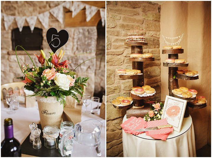 Barn Wedding decoration in Hereford By Gemma William's Photography