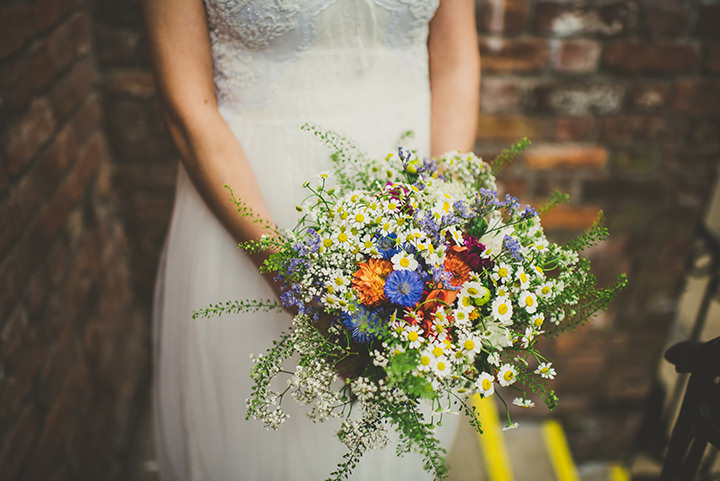 Handmade Wedding rustic flowers at The Thatched Cottage in Derry by Paula Gillespie