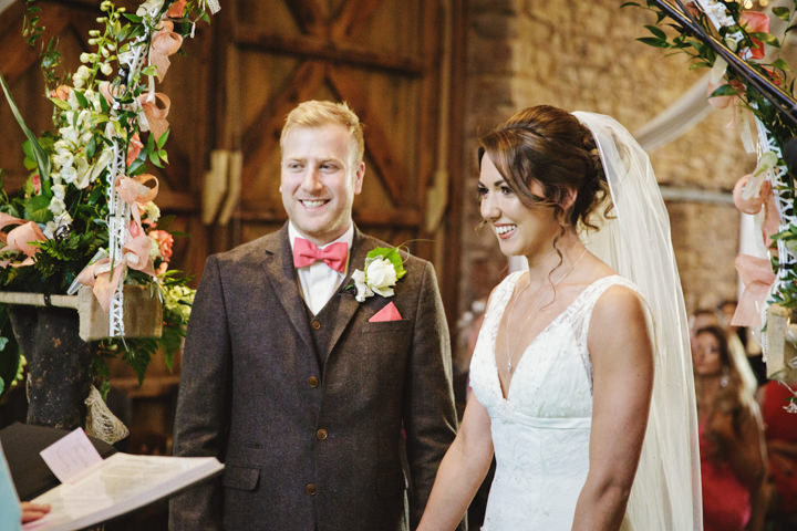 Barn Wedding bride and groom in Hereford By Gemma William's Photography