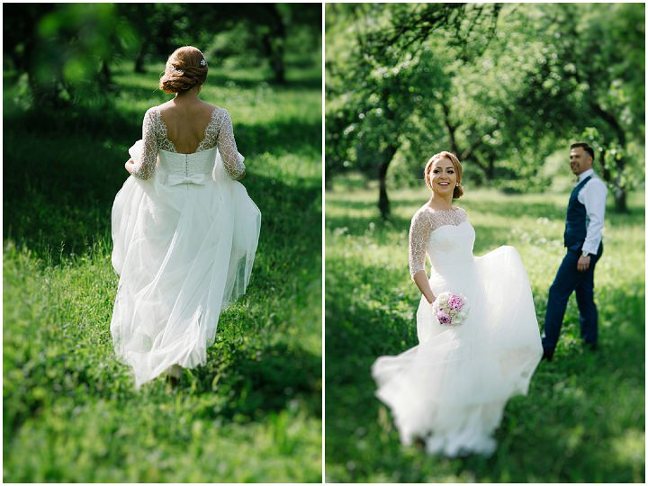 Modern Lithuanian bride in a meadow Wedding By Diana Zak Photography