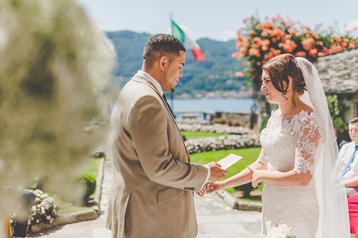 Jennifer and Steven's Romantic and Rustic Italian saying vows Wedding By Sam and Louise