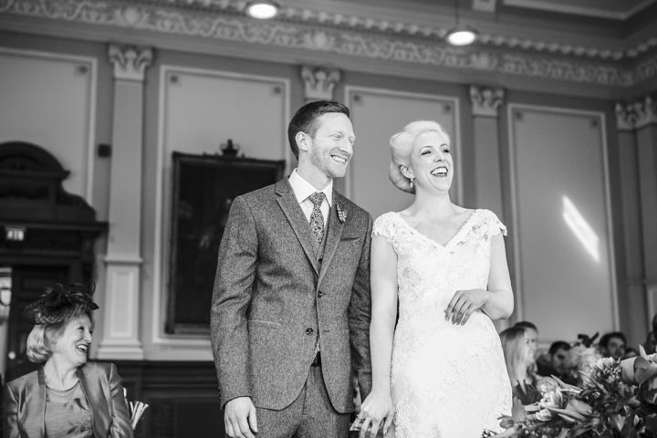 Bride and groom getting married Vintage Inspired Great Yarmouth Town Hall Wedding By Tatum Reid Photography