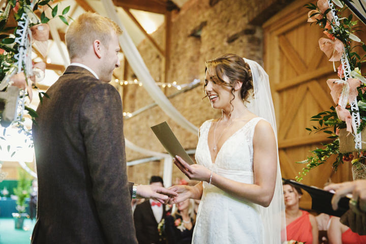 Barn Wedding reading in Hereford By Gemma William's Photography