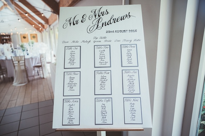 Table plan at Doddington Hall Lincolnshire Wedding By Phillipa James Photography