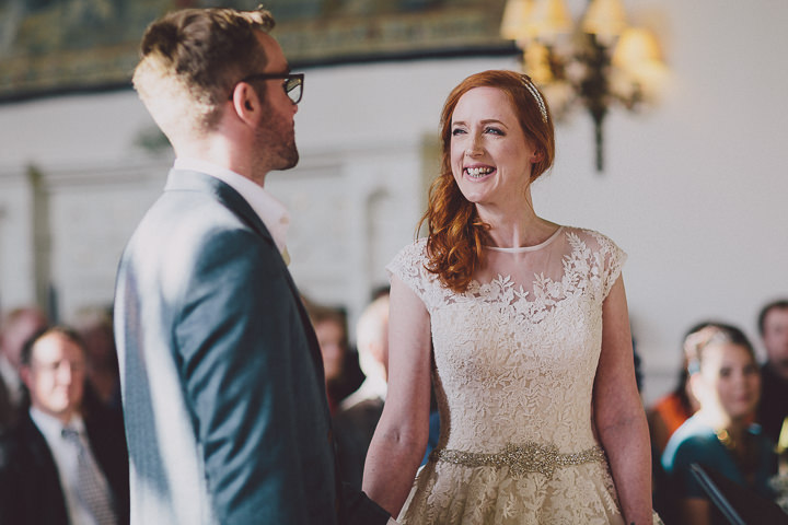 Autumnal Elmore Court bride and groom getting married in Gloucestershire Wedding By Scuffins Photography