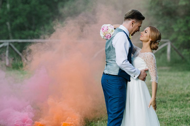 Modern Lithuanian smoke bombs Wedding By Diana Zak Photography