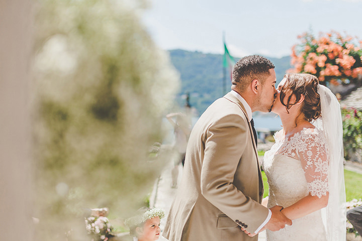 Jennifer and Steven's Romantic and Rustic Italian first kiss Wedding By Sam and Louise