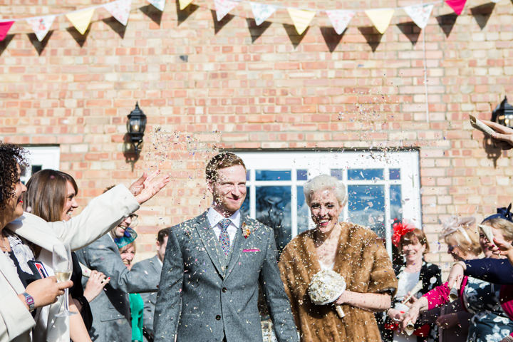 Bride and groom confetti Vintage Inspired Great Yarmouth Town Hall Wedding By Tatum Reid Photography