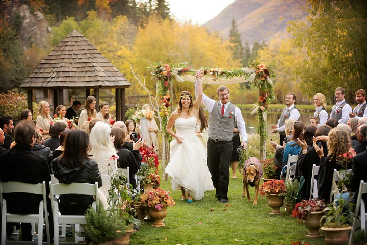 Wedding at Log Haven Restaurant in Utah Wedding dogs at weddings By Pepper Nix Photography