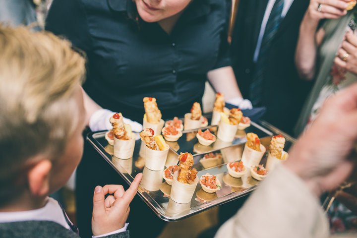 Alrewas Hayes Wedding canapes in Staffordshire by Neil Jackson Photographic