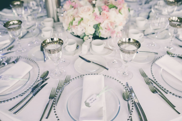 Alrewas Hayes Wedding table settings in Staffordshire by Neil Jackson Photographic