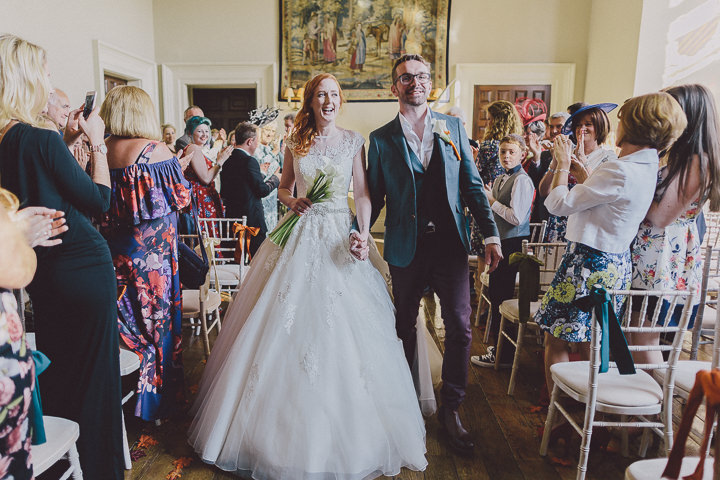 Autumnal Elmore Court just married Gloucestershire Wedding By Scuffins Photography
