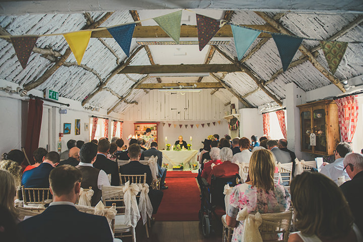 Handmade Wedding ceremony at The Thatched Cottage in Derry by Paula Gillespie