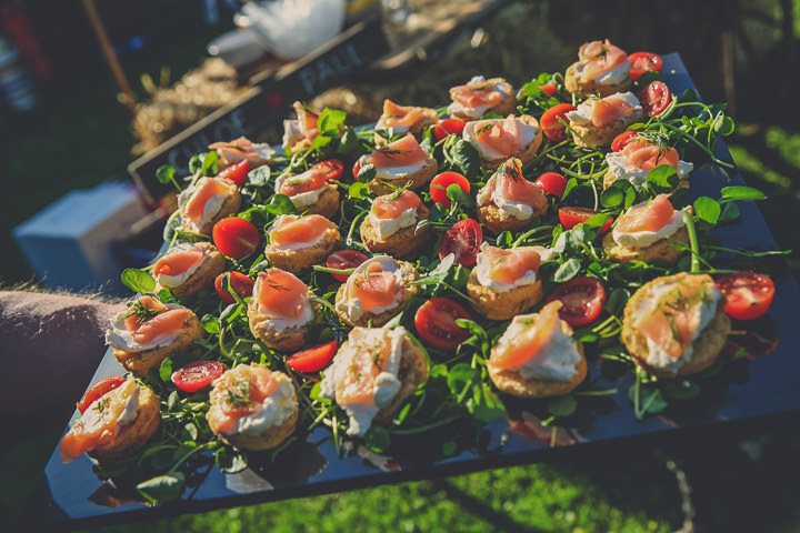 Chloe and Paul's Outdoor Autumn Wedding food in North Wales By Lottie Elizabeth Photography