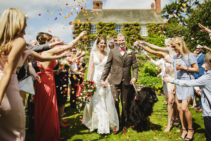 Barn Wedding confetti in Hereford By Gemma William's Photography