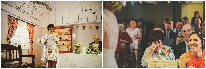 Handmade Wedding readings at The Thatched Cottage in Derry by Paula Gillespie