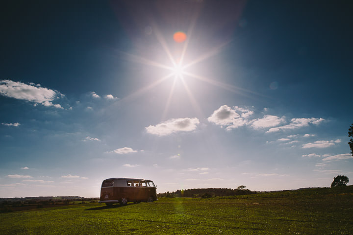 Warwickshire Wedding campervan By Kevin Belson Photography