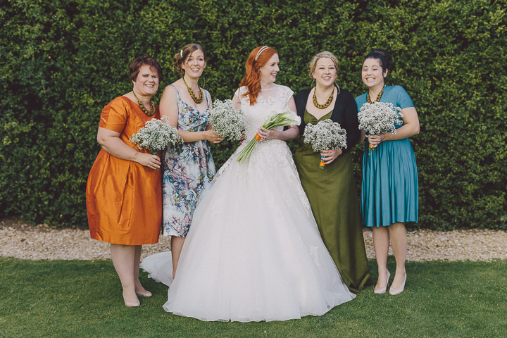 Autumnal Elmore Court bridesmaids in Gloucestershire Wedding By Scuffins Photography