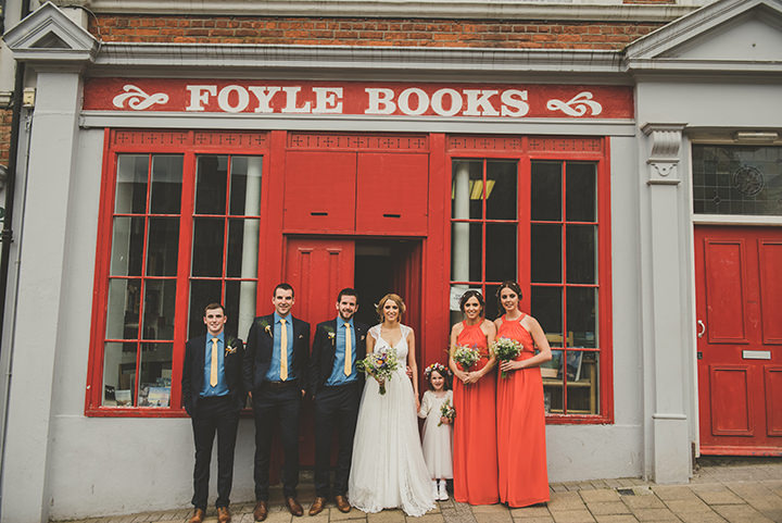 Handmade Wedding bridal party at The Thatched Cottage in Derry by Paula Gillespie