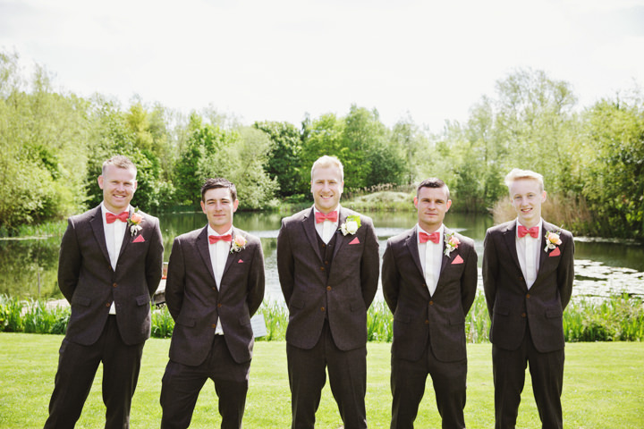 Barn Wedding with men wearing bow ties in Hereford By Gemma William's Photography