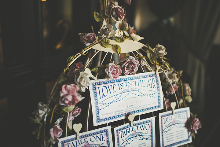 Handmade Wedding signs at The Thatched Cottage in Derry by Paula Gillespie