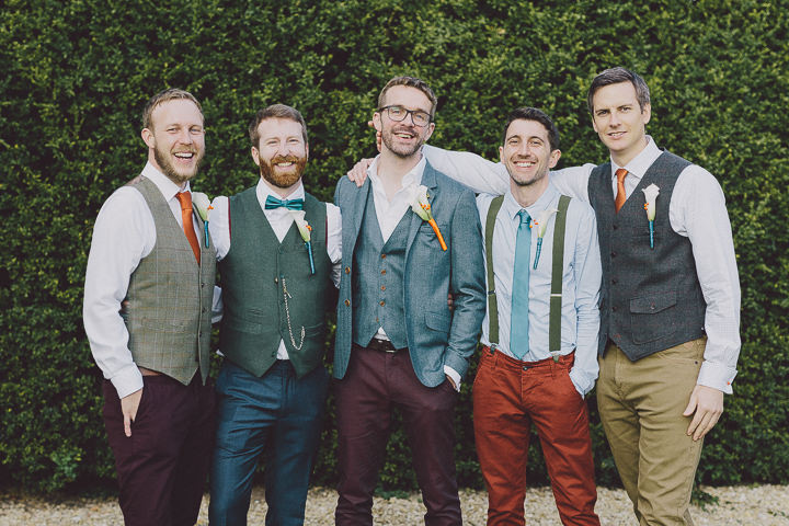 Autumnal Elmore Court Groomsmen Gloucestershire Wedding By Scuffins Photography