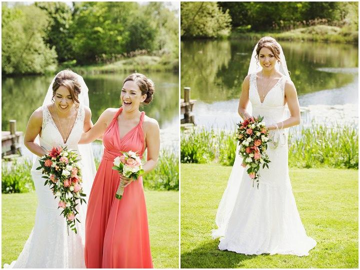 Barn Wedding happy bride in Hereford By Gemma William's Photography