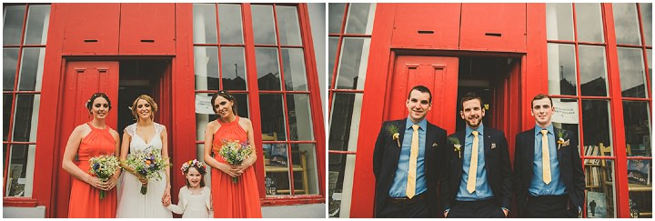 Handmade Wedding bridesmaids and groomsmen at The Thatched Cottage in Derry by Paula Gillespie