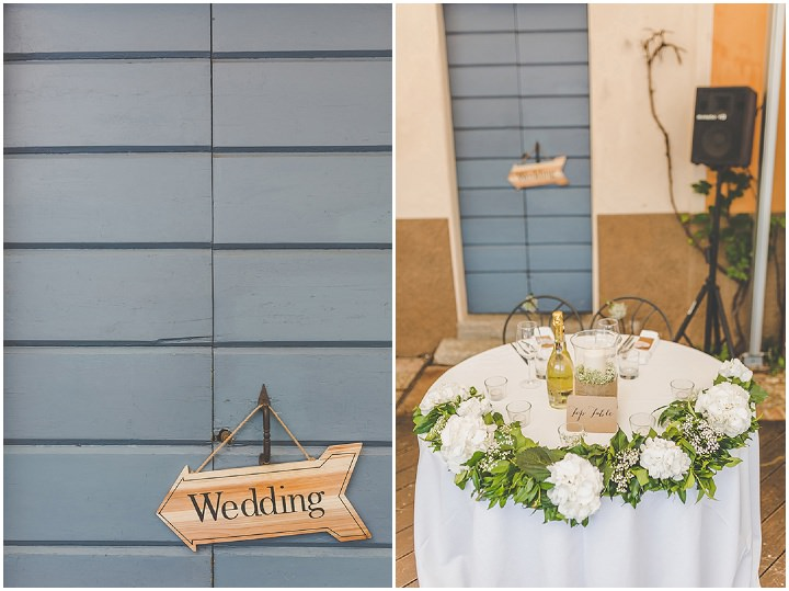 Jennifer and Steven's Romantic and Rustic Italian Wedding details By Sam and Louise